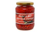 Řezy z bio červené papriky